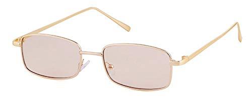 WSKPE Sonnenbrille Lila Sonnenbrille Frauen Männer Kleine Rechteckige Sonnenbrille Mit Flacher Oberseite Farbtöne (Hellbraun Objektiv)