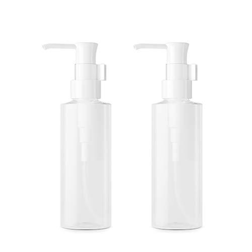 bubussv 12 Stück 150 ml Leere nachfüllbare Lotion-Flaschen aus Kunststoff klar Pumppresse Flaschen für Flüssigseife Handcremes Körperwäsche Bad Dusche Shampoo Massage Öl Proben Gesichtsreiniger