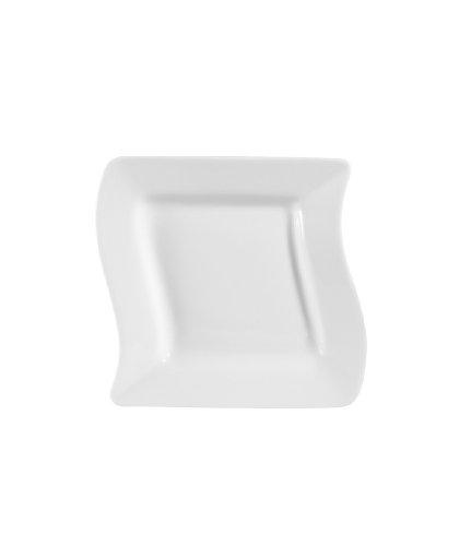 CAC China Miami Bone Porzellan-Teller, quadratisch, Weiß 7-1/2-Inch Bone white - China Quadratische Weiße Teller,