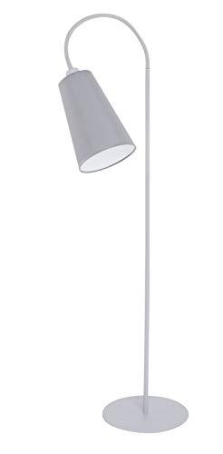Wohnzimmer Stehlampe Leseleuchte Grau Weiß Schwanenhals flexibel verstellbar 145cm Modern Leselampe Couch - Verstellbarer Schwanenhals Stehlampe