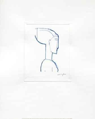 Amedeo Modigliani Kunstdruck (Amedeo Modigliani Poster Kunstdruck Female Head Poster Kunstdruck)