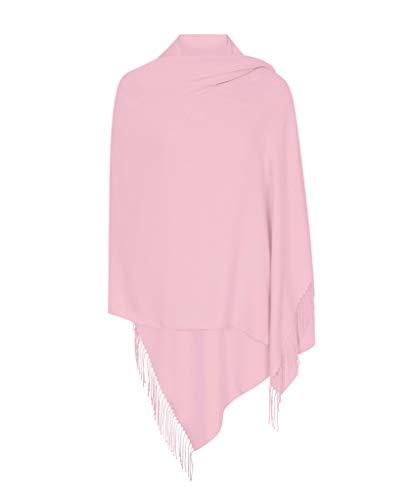 Babyrosa Hergestellt in Italien (37 Schöne Farben Erhältlich) Pashmina Schal Stola Umschlagtücher Tuch für Damen - Super Weich - Exklusiv von Pashminas & Wraps aus  London (Hochzeit Italien)