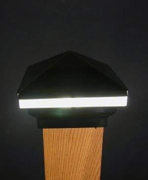 Iris Anello 12V Deck Licht, 10,2cm Post, Schwarz - Post-low-voltage-deck