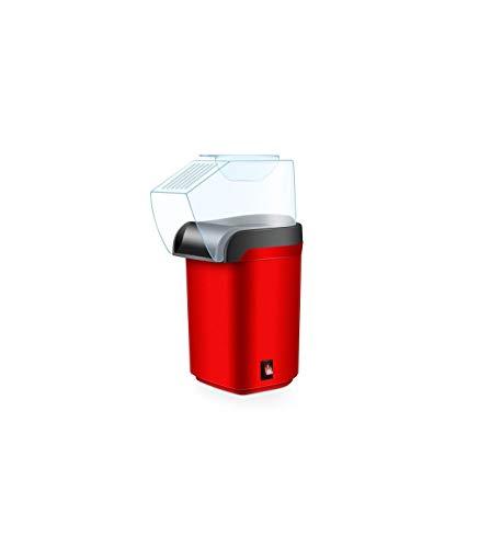 Palomitero, Máquina de hacer palomitas de aire caliente, Popcorn maker, Sin Aceites, Tapa Removible, 1200W de potencia (Rojo)