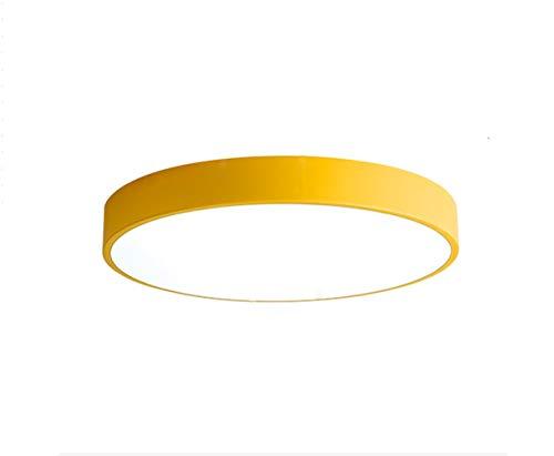 OOFAY LIGHT LED-Deckenleuchten Acryl Lampenschirm Macaron Farbe Decke Lampe Halterung,Warmlight,L50cm -