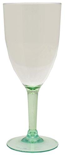 Acryl Brillenständer grün Weingläser, 12 Stück, Transparent