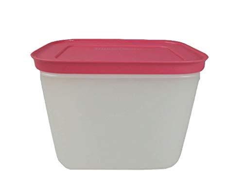 TUPPERWARE Gefrier-Behälter 1,1 L hoch weiß pink Eis-Kristall Eiskristall