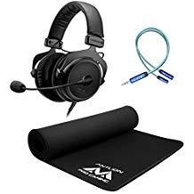Beyerdynamic MMX 300 2.Generation Premium Gaming Headset Bundle mit Antlion Audio Wide Mousepad, iFi Ear Buddy Audio Dämpfungsregler 3,5 mm und Blucoil 1,8 m 3,5 mm Verlängerungskabel - Gaming Bundle 300 Audio