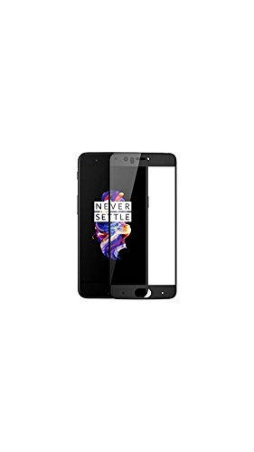 GT Gloptook OnePlus 5 Tempered Glass,Premium Series 2.5D Full Screen Guard for One Plus 5 Midnight Black Colour with LED Hole,Case Friendly Design