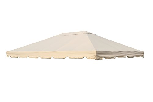 OUTFLEXX Ersatzdach aus hochwertigem Polyester in beige für Pavillons 3 x 4 Meter, Gartenzubehör, Pavillondach, wetterfest, wasserabweisend, imprägniert, Zeitloses Design, naturfarben