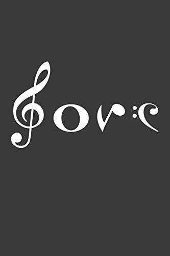 Love: Liniertes DinA 5 Notizbuch für Musikerinnen und Musiker Musik Notizheft