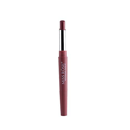 ESAILQ Neue Double-End Multifunktions Dauerhafte Lipliner Wasserdicht Lip Liner Stick Bleistift 8 Farbe Lippenstift Lipgloss (A)
