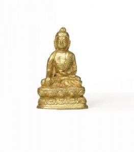Abaton Vibra Buda Estatua de latón 5cm