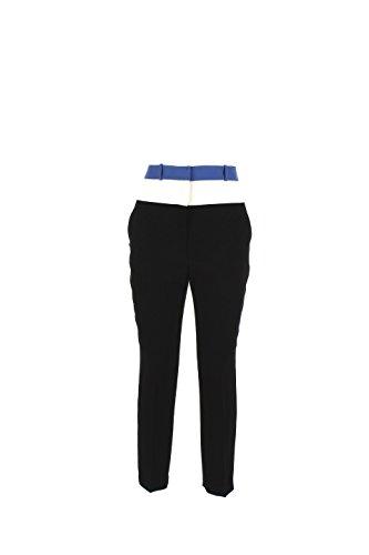 Pantalone Donna Elisabetta Franchi 46 Nero/avorio Pa9013236 Autunno Inverno 2016/17