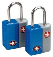 TRAVEL SENTRY KEY LOCKS, 2PK, BLUE WJ6071BL By SWISSGEAR