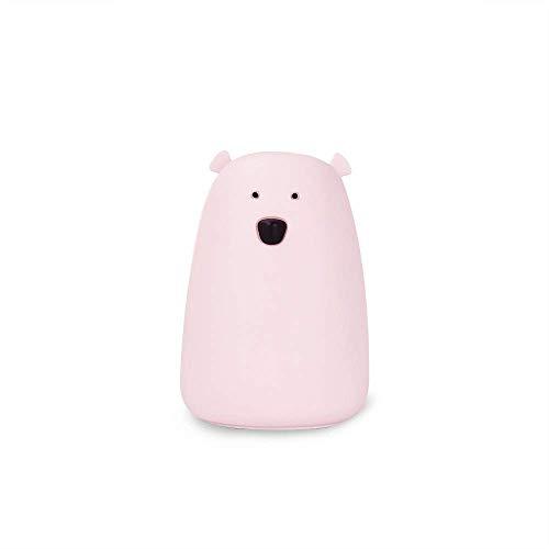 Nachtlicht Nachtlicht Mini Bunt Bunt USB Aufladen Aufladen Weißer Bär Weißer Bär Silikon (Pulver) -
