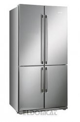 Smeg FQ60XP freestanding 539L A+ Stainless steel side-by-side refrigerator - side-by-side fridge-fr
