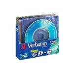 Verbatim 8cm CD-R 24x 210MB farbige CD-Rohlinge im Slim Case 5er Pack