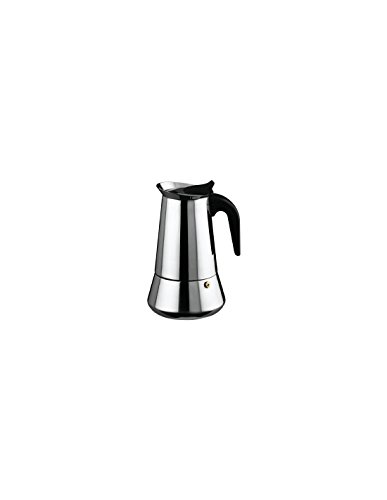 Ilsa–Espressokanne, Edelstahl, silberfarben 9 Tassen centimeters silber
