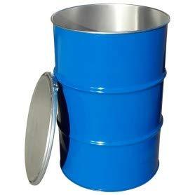 Fusto in ferro apertura totale 220 lt in lamierino. Omologato ADR/ONU. Colore esterno Blu e interno Grezzo