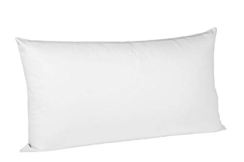 Fleuresse Interlock Jersey Kissenbezug colours Uni, 100% Baumwolle, weiß, 40 x 80 cm -