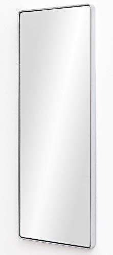 FineBuy Wandspiegel FB13964 Silber 36 x 100 x 4 cm Spiegel Modern Rahmen Groß | Hängespiegel Schlafzimmer Rechteckig | Garderobenspiegel Flur zum Aufhängen Eckig | Design Dekospiegel Wand Wohnzimmer