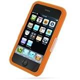 PDair iPhone 3G 3Gs Couverture de Silicone (Orange), Peau de Caoutchouc Souple de Protection complète du Corps à 360 °, Cas Ultra Mince, Prime Etui en Silicone de Luxe pour Apple iPhone 3G 3Gs