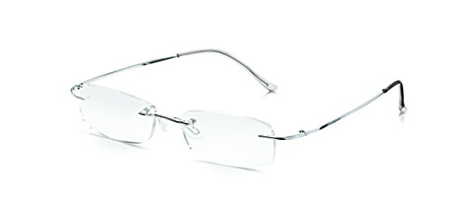 b36fba2b9dc Read Optics Rimless Computer Reading Glasses  Computer Screen Anti-Glare  Square Optical Quality Lenses and Slim Ultra Light-weight Flexible Frame in  Memory ...