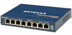 Netgear GS108UK Switch (8 Ports, für Netzwerke mit 10 / 100 / 1000 Mbit/s geeignet) (Netgear 8 Port-netzwerk-switch)
