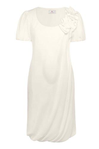 bellybutton Damen Umstandsmode Kleid, 10673-91100, Rufina, Gr. 40, Elfenbein (champagne)
