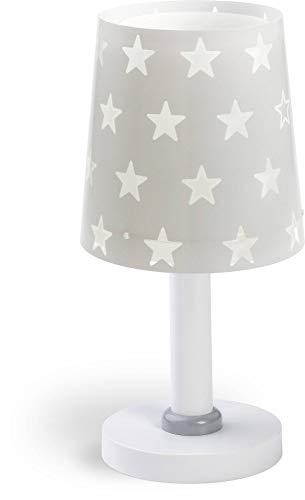 Dalber Kinder Tischlampe Sterne Stars Grau, Kunststoff, E14, 15 x 15 x 30 cm
