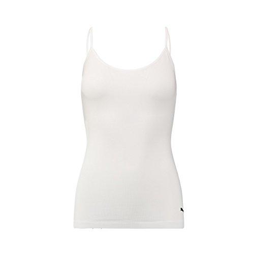 Puma Damen Iconic Camisole Bra 1er Pack, Größe:M, Farbe:White (300) - Camisole Bra