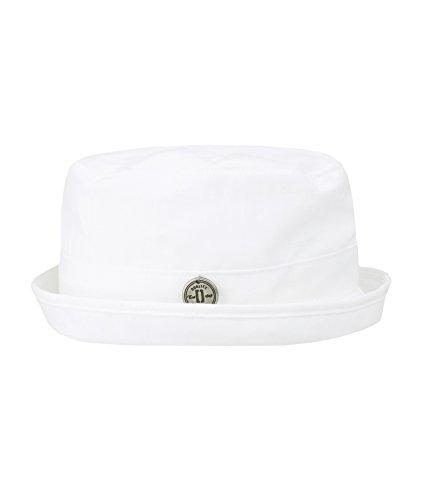 Döll Baby - Jungen Mütze Hut Leinen 1733451739, Einfarbig, Gr. 43, Weiß (bright 1000) (Leinen Hut)