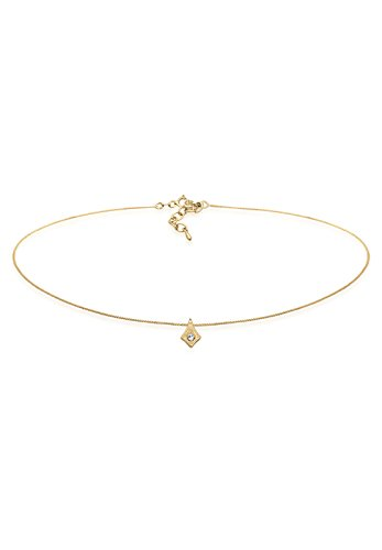 Elli Damen-Kette mit Anhänger Sterne Astro 925 Silber Kristall gold 36 cm - 0103160617_36