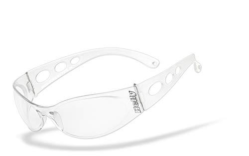 Helly® - No.1 Bikereyes® | UV400 Schutzfilter, HLT® Kunststoff-Sicherheitsglas nach DIN EN 166 | Bikerbrille | Brillengestell: transparent matt, Brille: pro street