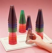 Stacking Cones 12 replacement cones (two of each color) without base - Model 149801 by Sammons