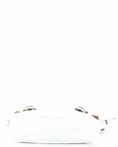 histoireDaccessoires - Borsa a tracolla Pelle Donna - SA146214GU-Tosca Bianco