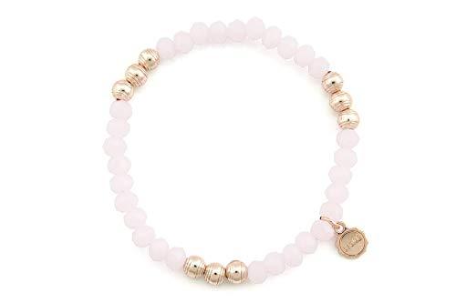"""Lizas Armband""""watson"""" mit facettierten Steinen und rosefarbenen Perlen (rose)"""