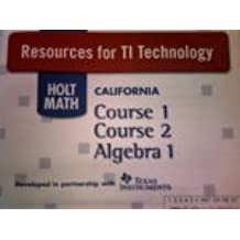 Resources for T1 Technology (HOLT MATH CALIFORNIA Course 1 Course 2 Algebra 1)
