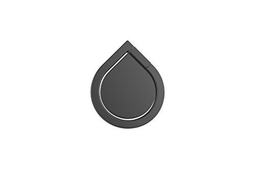 Kronya® | 360° drehbarer Smartphone Fingerhalter | Auto Case Finger Fitness Griff Halter Halterung Handy Hülle Ring Ringhalter Sport Ständer Tablet Apple iPhone iPad Samsung Galaxy 1 (Schwarz) - 5