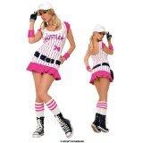 Rosa-weiß gestreiften Rennwagen-Kostüm-Kleid (Für Kostüm Frauen Rennfahrer)