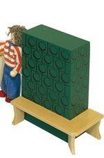 Rülke Holzspielzeug 22105 Kachelofen mit Bank, grün
