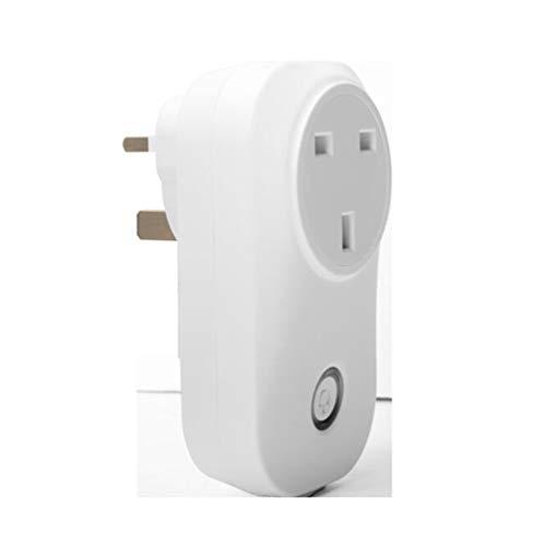 WiFi-Smart-Steckdose, kompatibel mit Alexa und Google Home Sprachsteuerung Timer-Schalter-Steckdose, steuern Sie Ihr Gerät jederzeit (British Standard)