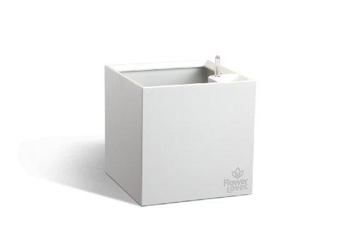 Flower 41118061 Lover Cubico Cache-Pot avec Système d'Irrigation Blanc 27 x 27 x 27 cm