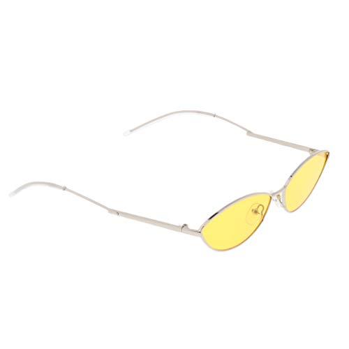 Baoblaze Cat Eye Sunglasses Sonnenbrille Partybrille Katzenaugen Spaßbrille Party Brillen Cosplay Kostüm - Gold-gelb