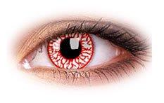 Eye-Effect-Farbige Kontaktlinsen Zombie Blut Rot als Jahreslinsen ohne Stärke! Karneval/Halloween Kontaktlinsen+Linsenbehälter