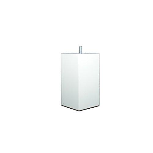 La Fabrique de Pieds Jeu de 4 Pieds de Lit, Bois, Laqué Blanc, 15 x 8 x 8 cm