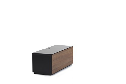 Accord Sonorous ST110F Glass and Wood Ready Assembled Cabinet with IR Repeater for TV Upto 50-Inch - Black Walnut