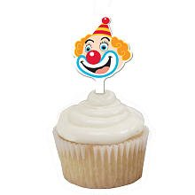 Circus theme clown Cupcake Toppers pack of 12