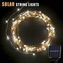 120 LED Solar Fairy Lights, OakLeaf Copper wire Starry String lights Christmas Lighting Waterproof for Outdoor & indoor Idea for Garden Xmas Tree Window Wedding Party Patio landscape Fence Festival Decoration Warm White by Oak Leaf